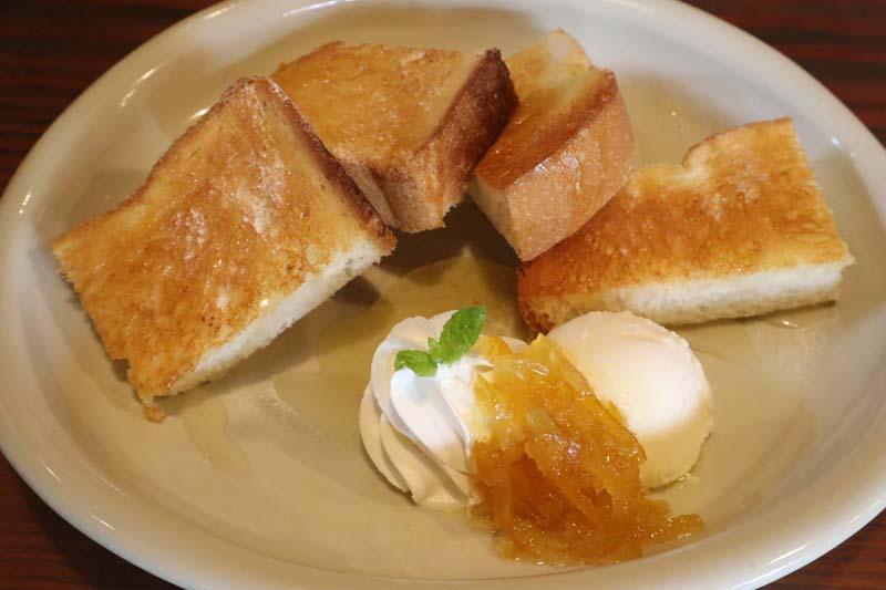 柚子はちみつトースト